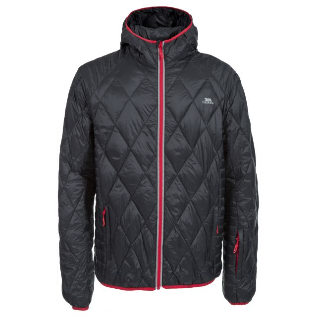 Insular Men's Quilted Down Jacket in Black