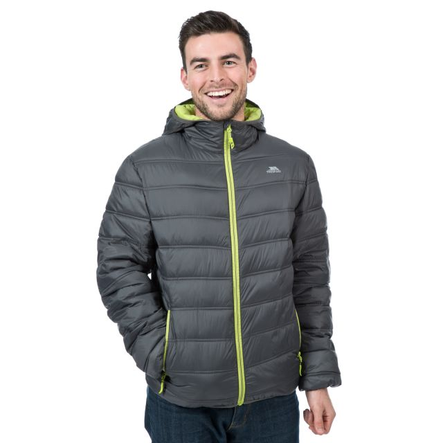 Irrate Men's Padded Casual Jacket in Grey