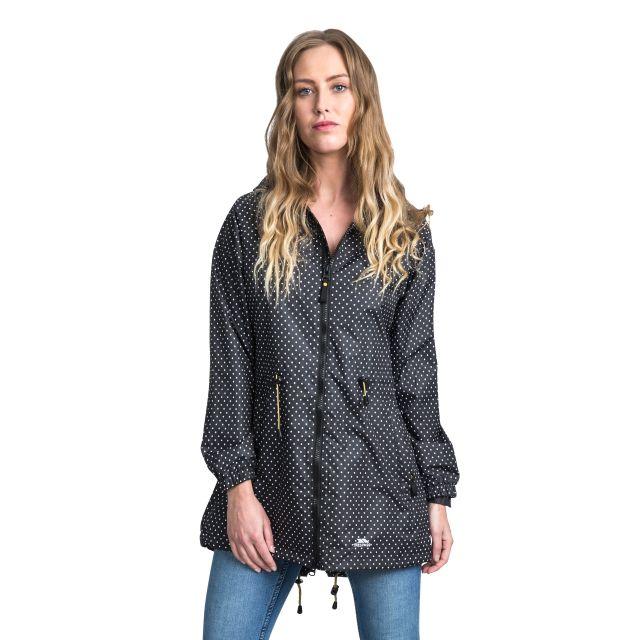 Trespass Womens Waterproof Parka Jacket Isabella in Black