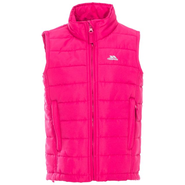 Jadda Kids' Quilted Gilet in Pink