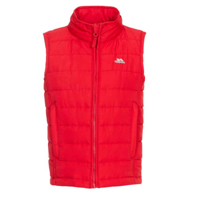 Jadda Kids' Quilted Gilet in Red