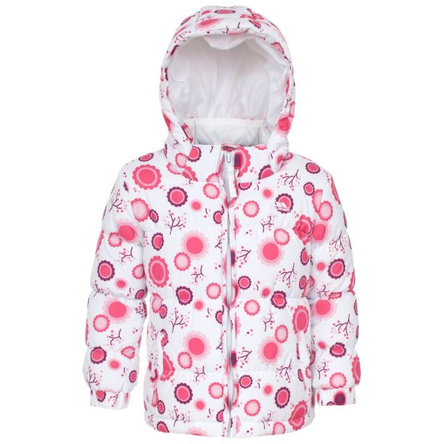 Janet Babies' Printed Water Resistant Jacket in White