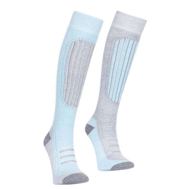 Janus II Women's Ski Tube Socks in Turquoise