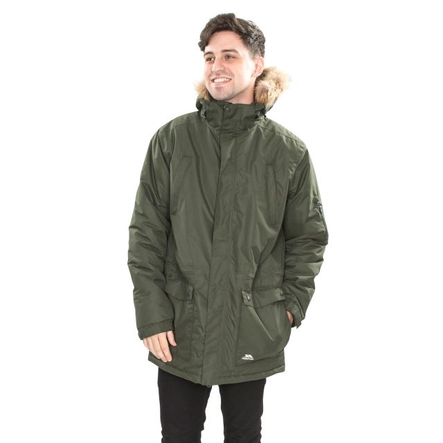 Jaydin Men's Waterproof Parka Jacket in Khaki