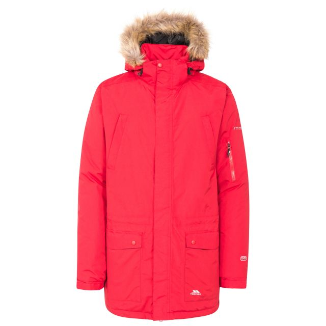 Jaydin Men's Waterproof Parka Jacket in Red