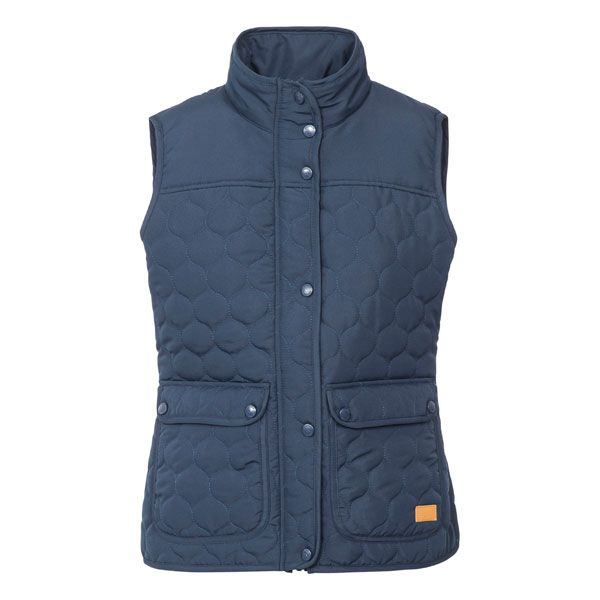 Trespass Womens Quilted Casual Gilet Jen in Navy