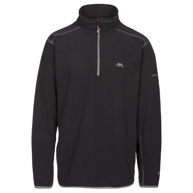 Jeremy Men's 1/2 Zip Microfleece in Black