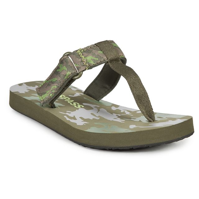 Jettie Kids' Thong Sandals in Khaki