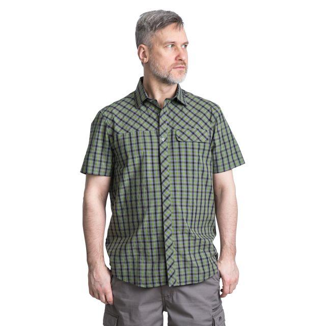 Juba Men's Short Sleeve Checked Shirt in Green