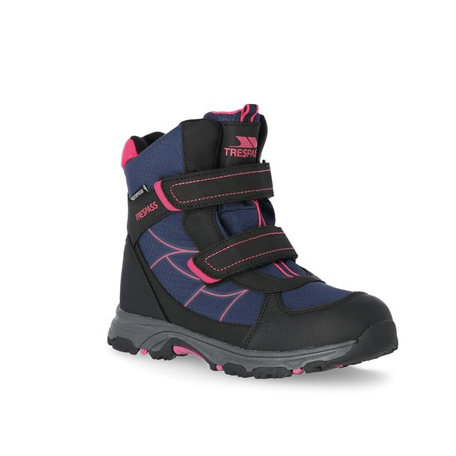 Julien Kids' Waterproof Walking Boots in Navy