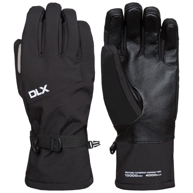 Kabuto II Unisex DLX Softshell Ski Gloves in Black
