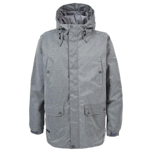 Karlo Mens Waterproof Jacket in Light Grey