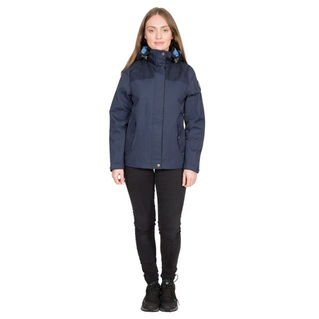 DLX Womens DLX Waterpoof Jacket Kelby in Navy