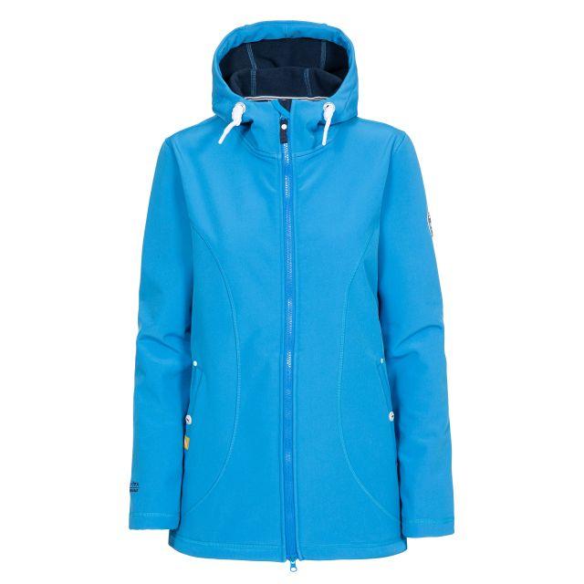 Trespass Womens Softshell Jacket Hooded Kinsley in Blue