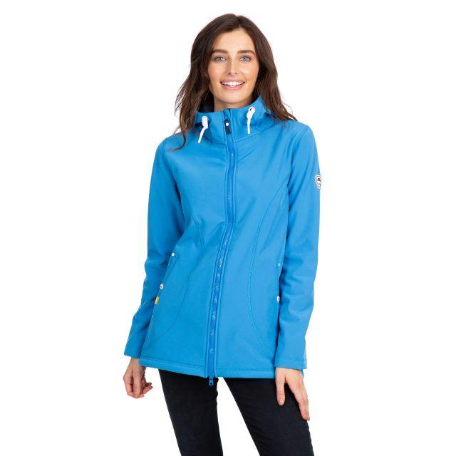 Kinsley Women's Hooded Softshell Jacket in Blue