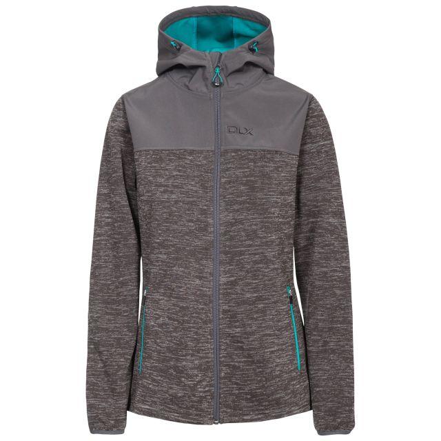 DLX Womens  Softshell Jacket Breathable Kirsti in Grey