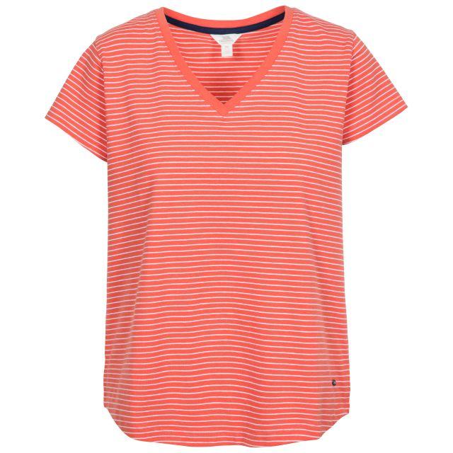 Konnie Women's V-Neck T-Shirt in Peach