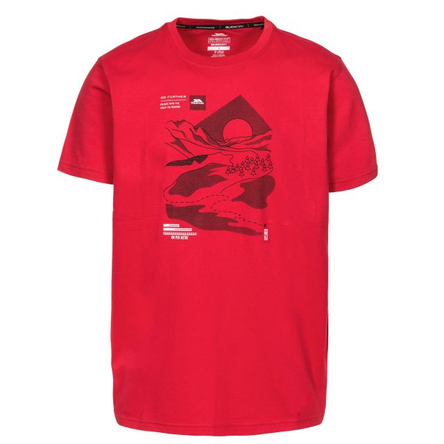 Landscape Men's Printed Casual T-Shirt in Red