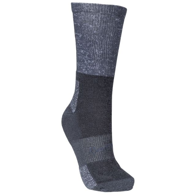 Trespass Womens Walking Socks Coolmax Breathable Leader Grey