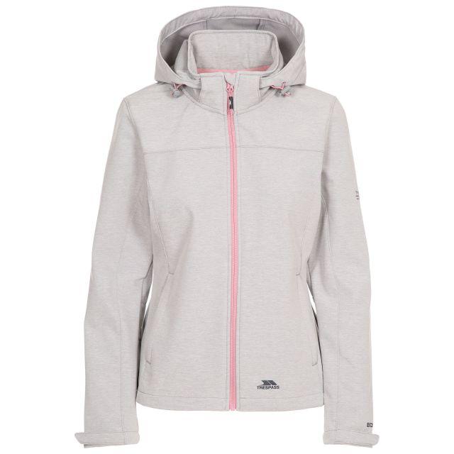 Leah Women's Softshell Jacket in Light Grey