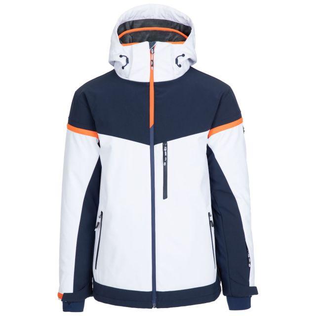 Trespass Men's Ski Jacket Lightly Padded Zip Off Hood Li White