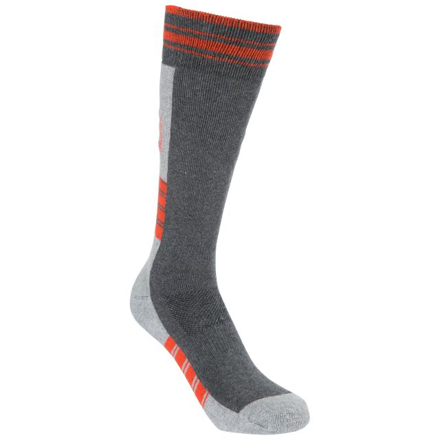 Lizuna Kids' Thermal Ski Socks in Grey
