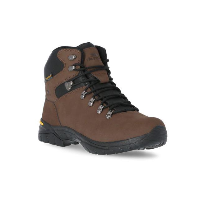 Lochlyn Men's Vibram Walking Boots in Brown, Angled view of footwear