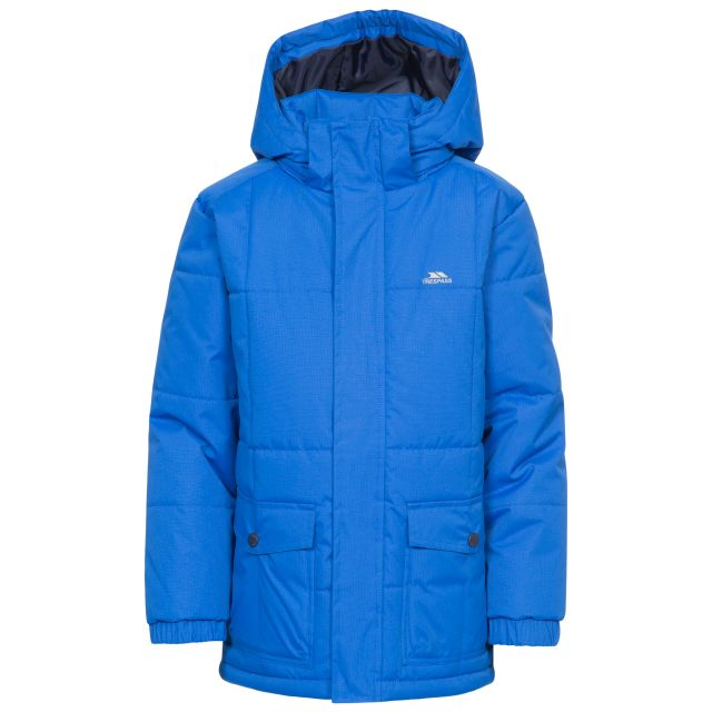 Longton Boys' Water Resistant Padded Jacket in Blue