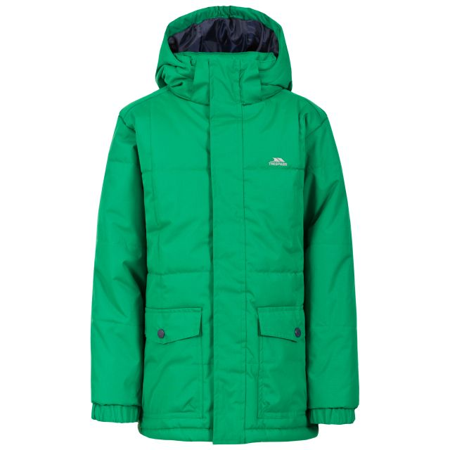 Longton Boys' Water Resistant Padded Jacket in Green