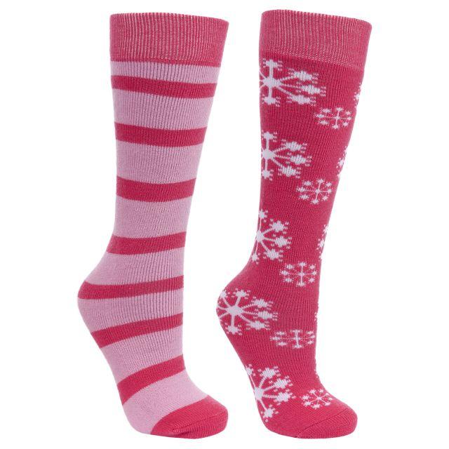 Lori Kids' Tube Socks - 2 pack in Pink