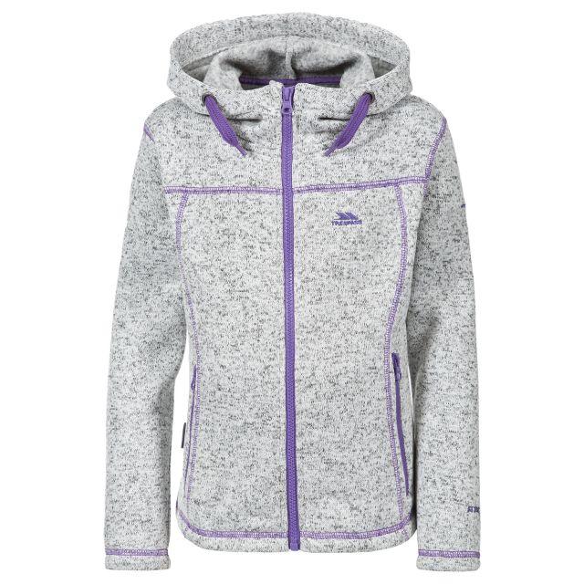 Lovell Kids' Full Zip Fleece Hoodie in White