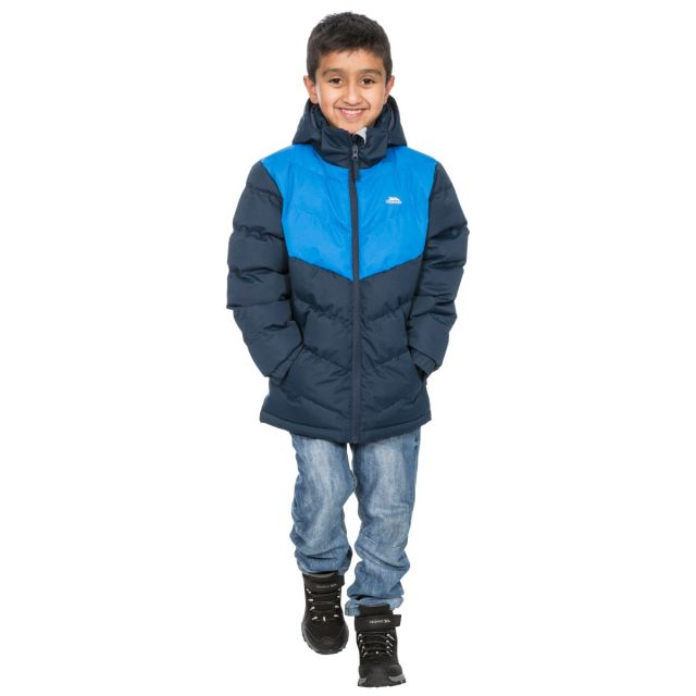 Luddi Kids' Padded Waterproof Jacket in Navy