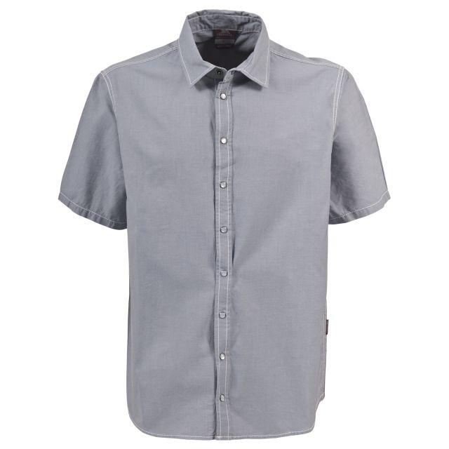 Luke Men's Short Sleeve Cotton Shirt in Light Blue