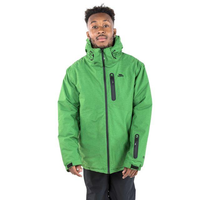 Lurgan Men's Padded Waterproof Ski Jacket in Green