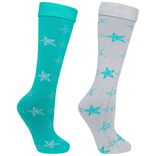 Luv Women's Tube Socks - 2 Pack in Blue