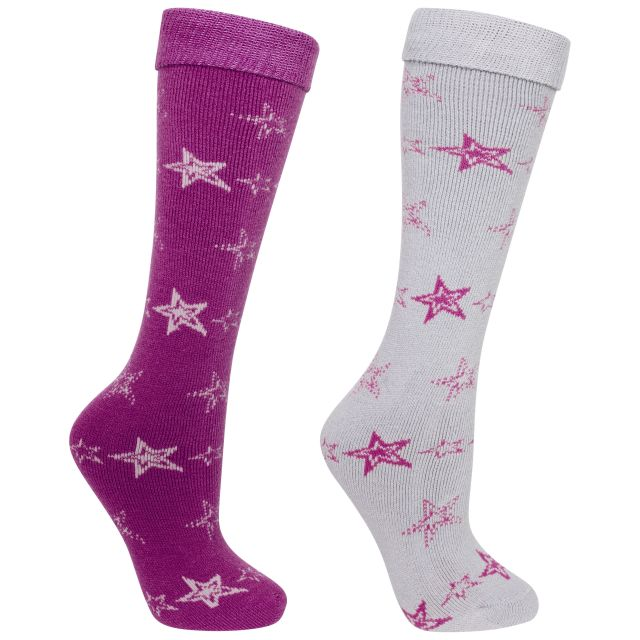 Luv Women's Tube Socks - 2 Pack in Purple