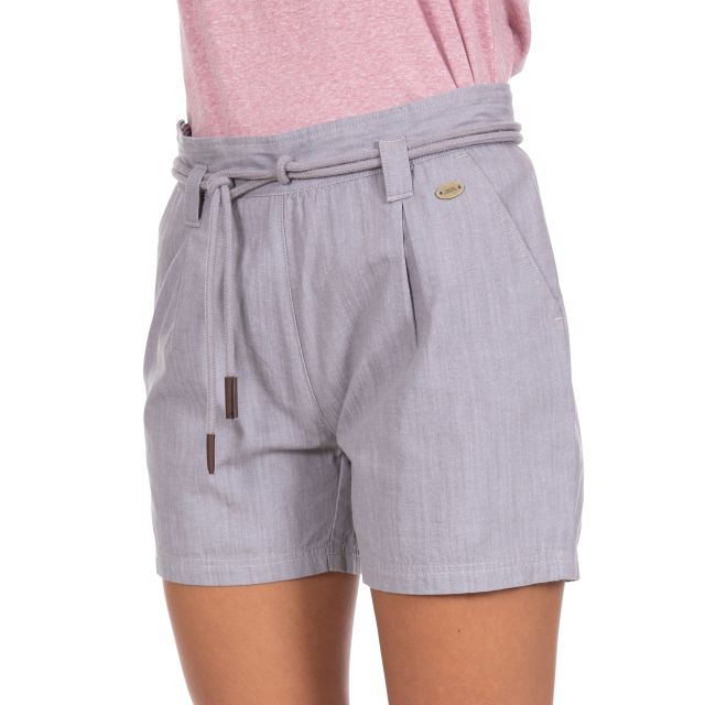 Lynn Women's Cotton Shorts in Grey