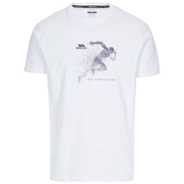 Lyons II Men's Quick Dry Casual T-shirt in White, Front view on mannequin