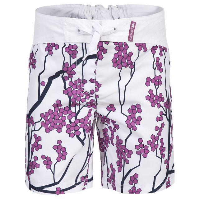Mabel Kids' Swim Shorts in White