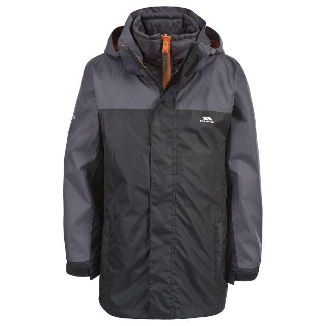 Maddox Kids' 3-in-1 Waterproof Jacket in Black