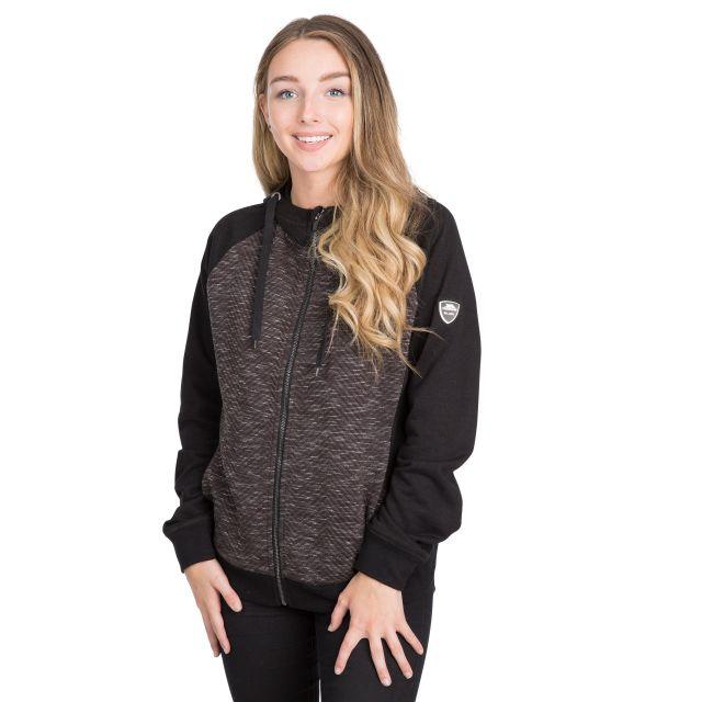 Mairi Women's Full Zip Hoodie in Black