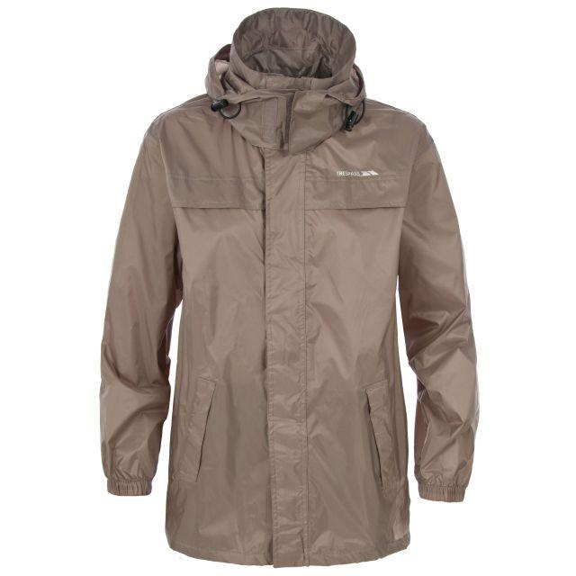 Packa Adults' Waterproof Packaway Jacket in Brown
