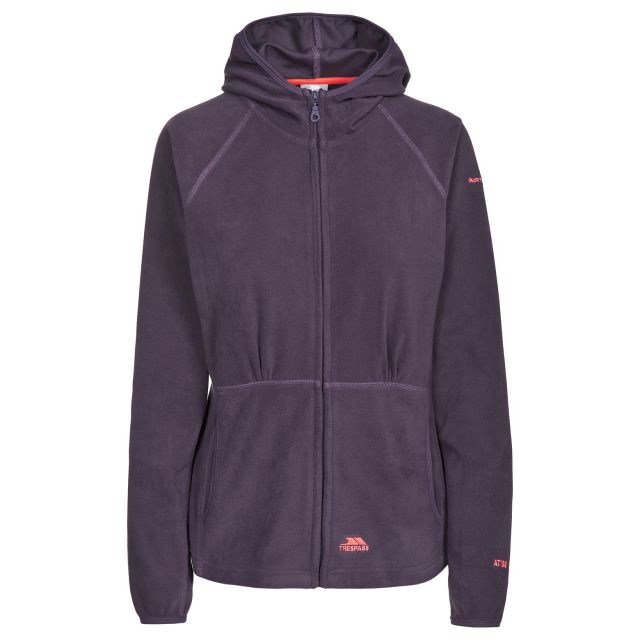 Marathon Womens Anti Pilling Microfleece Hoodie in Purple