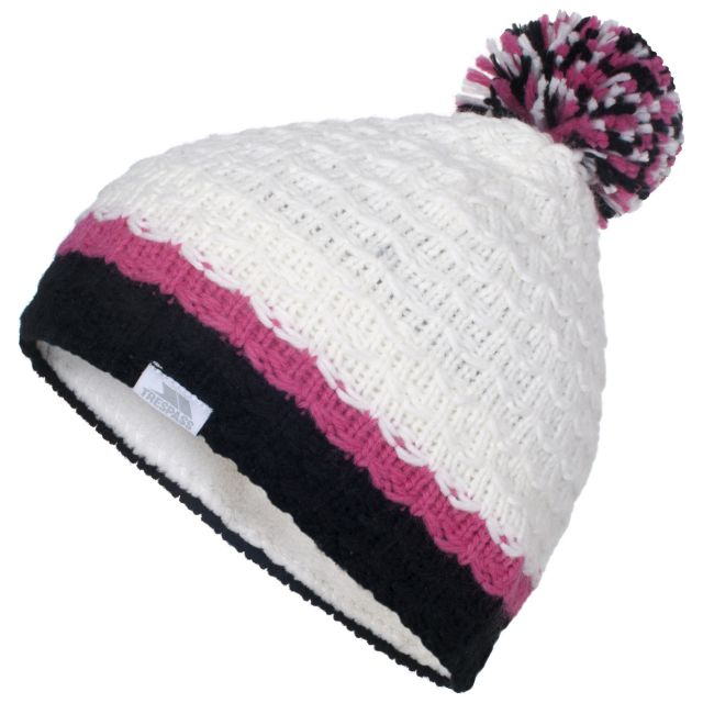 Marcella Kids' Pom Pom Beanie in White