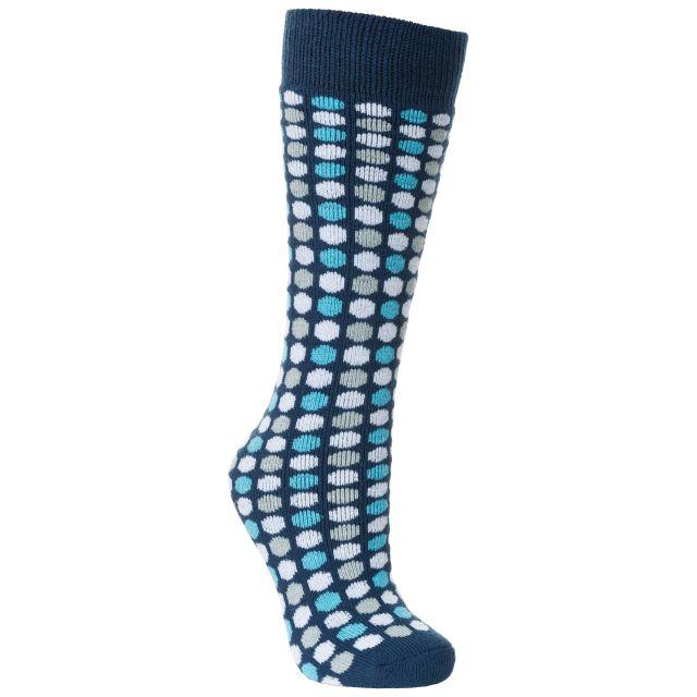 Marci Women's Printed Tube Socks in Blue