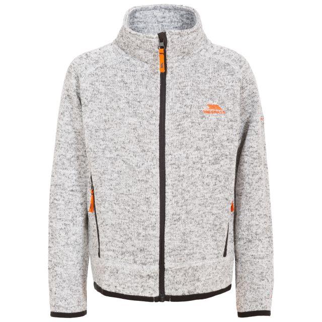 Mario Kids' Full Zip Fleece Jacket in Light Grey