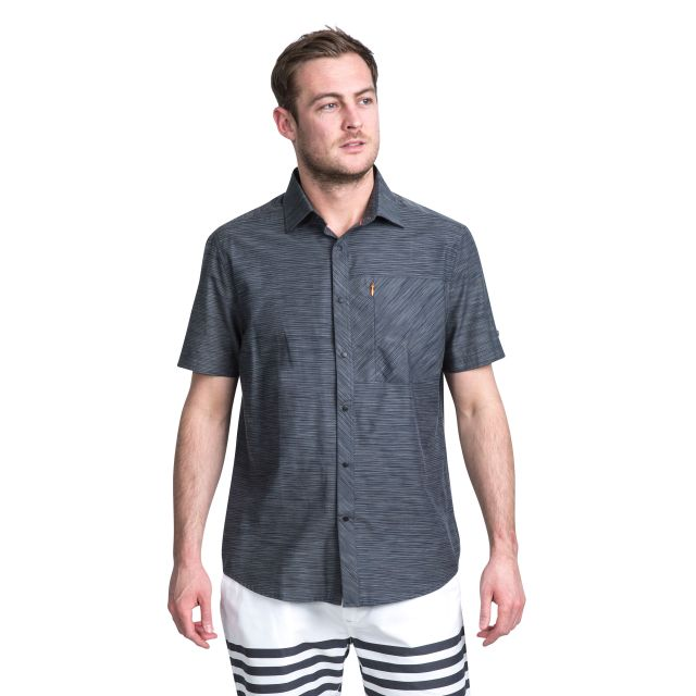 Matadi Men's Short Sleeve Shirt in Grey