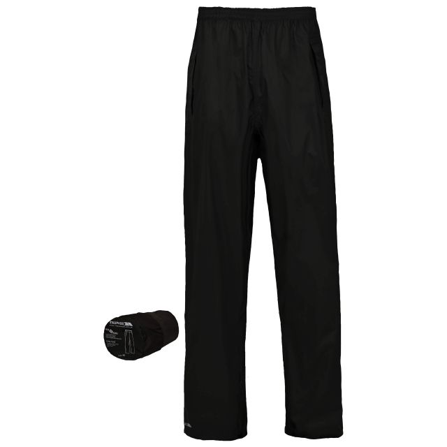 Packa Kids' Packaway Waterproof Trousers in Black