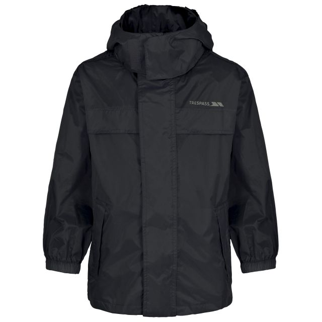 Packa Kids' Waterproof Packaway Jacket in Black