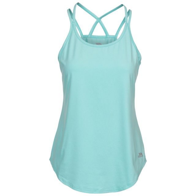 Meghan Women's Sleeveless Active T-shirt in Light Blue